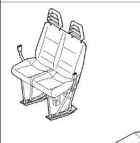 asiento acompanante doble iveco daily ii 35 c foto 2