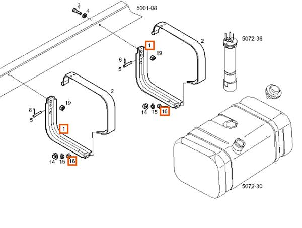 soporte delantero deposito combustible iveco foto 1