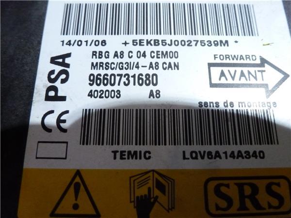 centralita airbag citroen c3 11 sx foto 2