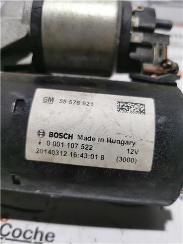 motor arranque opel adam (2012 >) 1.4 glam ecoflex [1,4 ltr.   74 kw 16v]